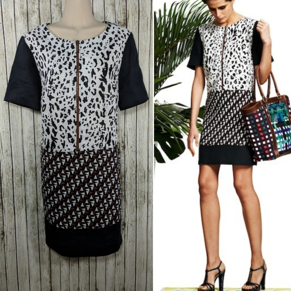 32d6424fa80ee7 Duro Olowu Dresses & Skirts - Duro Olowu linen mixed print shift dress - M